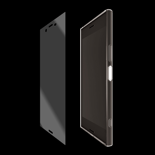 [Aegis Pro] Full Guard Set - Shock Absorbing Film + TPU Case for Xperia XZ Premium Clear Case + Shock Absorbing Film