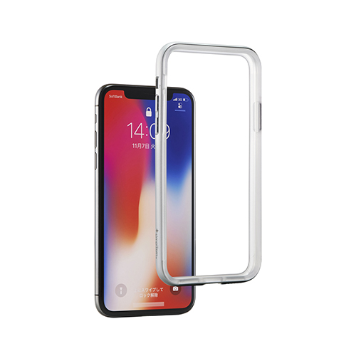 [Turtle Bumper] Alminium Bumper for iPhone X Silver
