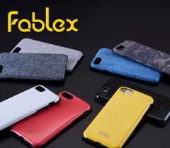 "[<b style=""background-color:yellow;"">Fablex</b>] Shock Absorbing Fabric Case for <b style=""background-color:yellow;"">iPhone</b> 7(4.7インチ)"