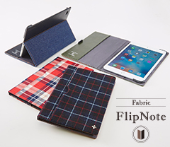 Flip Note with Card Pocket for iPad mini 4(Fabric)