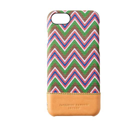 [KATHARINE HAMNETT LONDON×Simplism] Rear Twotone Case for iPhone 7 African Green x Tan