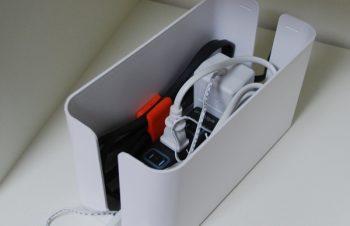 ケーブルボックスで整理…Bluelounge CableBox mini とTivoli Audio  – ワークルームの収納