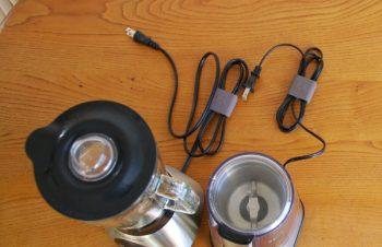 キッチン家電のケーブル整理…Bluelounge CableClip & Russell Hobbs – キッチンの収納