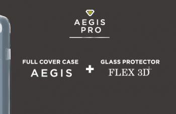 [Aegis Pro] フルガード セット 3D Complex ガラス + TPU ケース for iPhone 7 Plus(5.5インチ)