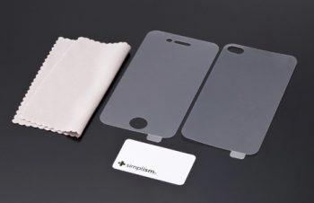 バブルレス フィルムセット for iPhone 4/4S 反射防止