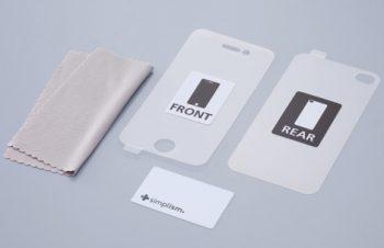 バブルレス フィルムセット for iPhone 4/4S 光沢