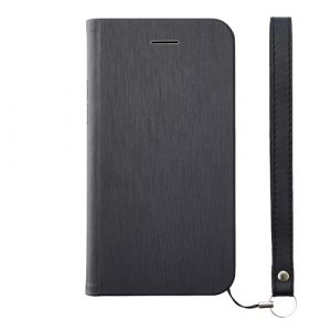 [FlipNote Slim] フリップノートケース for iPhone X (マグネット) – ブラック