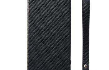 [FlipShell] フリップノートケース for Xperia XZ2 – ブラック