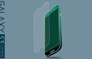 Protector Film Set for Galaxy S3 α Anti-glare