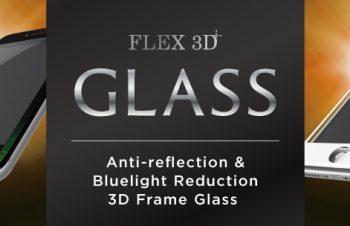 [FLEX 3D] 光反射低減&ブルーライト低減 3D フレームガラス for iPhone 7(4.7インチ)