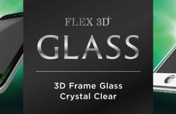 [FLEX 3D] 3D フレームガラス for iPhone 7(4.7インチ)光沢(販売終了)