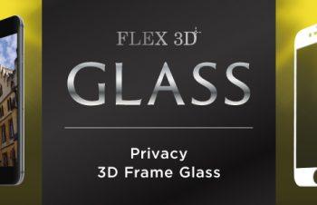 [FLEX 3D] プライバシー 3D フレームガラス for iPhone 7 Plus(5.5インチ)