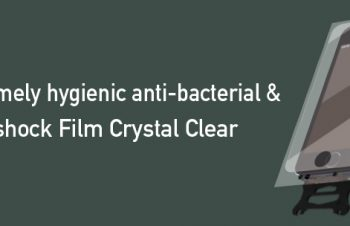 Extremely Hygienic Anti-bacterial & Anti-shock Film for iPhone SE/5s/5c/5 Crystal Clear