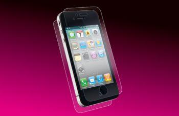 バブルレス フィルムセット for iPhone 4S 光沢