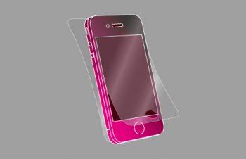 液晶保護フィルムセット for iPhone 4S 光沢