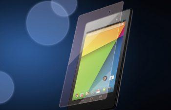 バブルレス&指紋防止 フィルムセット for Nexus 7 光沢