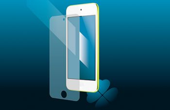 ブルーライトカット&バブルレス フィルムセット for iPod touch (5th) 反射防止
