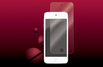 バブルレス&指紋防止 フィルムセット for iPod touch (5th) 光沢