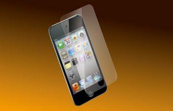 バブルレス フィルムセット for iPod touch (4th) 光沢 2011