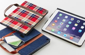 Handle Smart Flip Note Case with Card Pocket for iPad Air 2