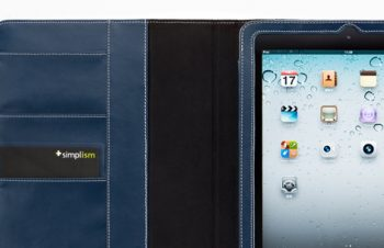Leather Flip Note Case for iPad 2
