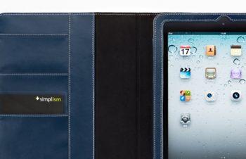 レザー フリップノートケース for iPad 2