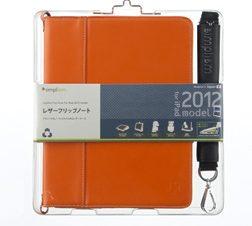 レザー フリップノート for iPad (3rd) – オレンジ