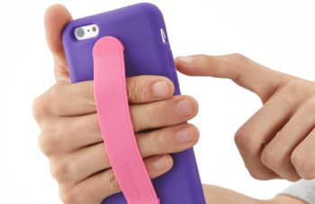 Silicone Case with Card Pocket & Grip Band for iPhone 6 Plus(5.5inch)