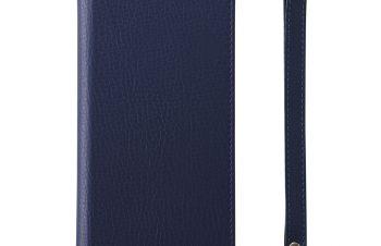 iPhone XS [FlipNote Slim] クラリーノ フリップノートケース スマートON/OFF – ブルー