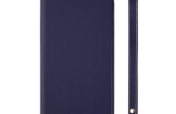 iPhone XR [FlipNote Slim] クラリーノ フリップノートケース – ブルー