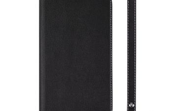 iPhone XR [FlipNote Slim] クラリーノ フリップノートケース – ブラック