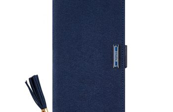iPhone XR [FlipNote] クラリーノ フリップノートケース – ブルー