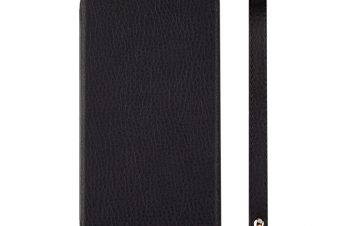 iPhone XR [FlipShell] 衝撃吸収クラリーノフリップシェルケース – ブラック