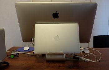 Apple Thunderbolt DisplayとMacBook Proにマッチしたディスプレイスタンド