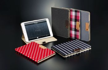人気のファブリックをあしらったiPad mini用フリップケース登場。