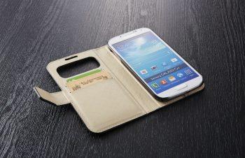 Galaxy S4の機能を最大限に活かしたフリップケース