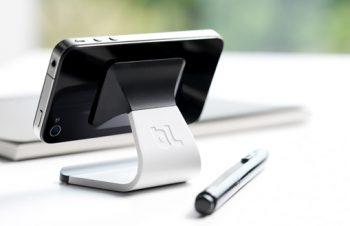 究極のシンプルデザイン、iPhone用スタンド「Milo」