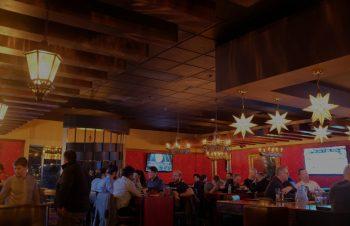 海外のレストランの照明について