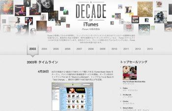 iTunesストア10周年と求めるもの