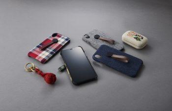 iPhone XR [NUNO] ハンドルリング付きファブリックケース