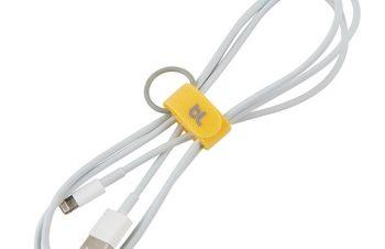 【新製品】充電ケーブルなどを巻き取って、フックに吊り下げられるグッズ「Bluelounge Cable Ties」
