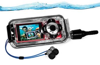 水中でも、動画を。