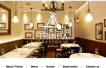新しい試み、TRATTORIA・TRINITAを始めます