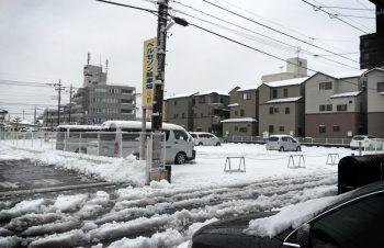 大雪と通勤時間と人財募集