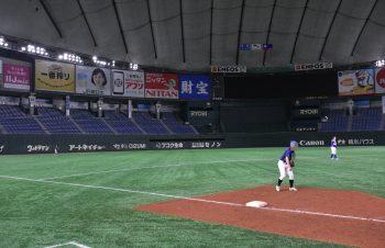 フェイ、東京ドームのマウンドに立つ!