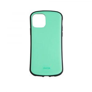 iPhone 11 Pro [CRAYON] 背面キズ修復防指紋 衝撃吸収ハイブリッドケース – グリーン