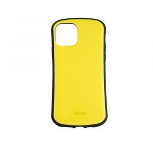 iPhone 11 Pro [CRAYON] 背面キズ修復防指紋 衝撃吸収ハイブリッドケース – イエロー