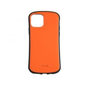 iPhone 11 Pro [CRAYON] 背面キズ修復防指紋 衝撃吸収ハイブリッドケース – オレンジ