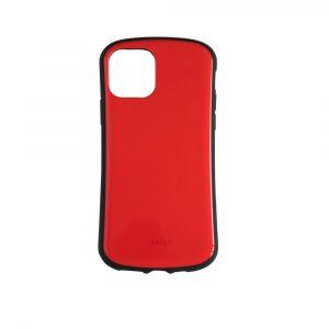 iPhone 11 Pro [CRAYON] 背面キズ修復防指紋 衝撃吸収ハイブリッドケース – レッド