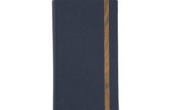 iPhone 11 [FlipNote Light] 極薄軽量 クラリーノフリップノートケース – ブルー